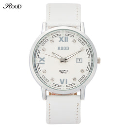 ROOD Luxury Fashion Leather Quartz Wristwatch for Women