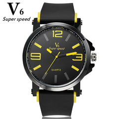 V6 Unisex High Quality Silicone Sports Watch