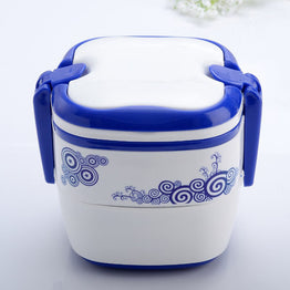 Traditional chinese Double layered lunch boxes for children