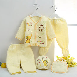High quality Warm Underwear new born 5pcs baby clothing set