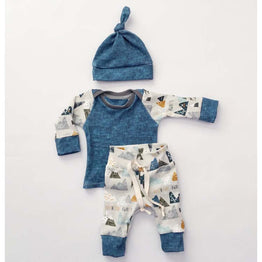 Newborn Boy/Girl long-sleeved geometry Fashion clothing set