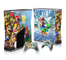 Super Mario Design Vinyl Skin Protector Sticker for Microsoft Xbox 360 Slim