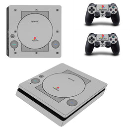 Classic Playstation Design Skin Stickers Protector for Sony PlayStation 4 Slim Console