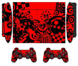 Red Passion Vinyl  Protector Sticker for Sony PS3 Super Slim