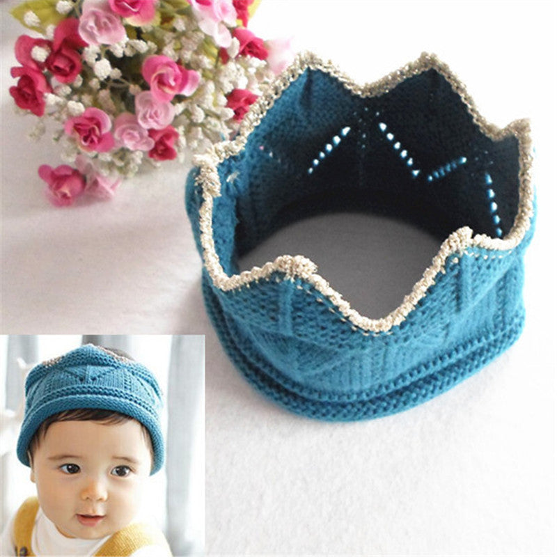 Baby Infant Headband Crown Knitting Crochet Costume Hat Cap