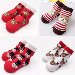 Infant Socks Newborn Cotton Cute Animal Socks Baby Christmas Socks