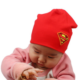 Superman Design Unisex Hat Caps Toddler Cotton Beanies Newborn