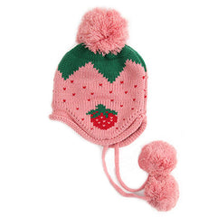 Adorable Strawberry tops for young lady wear in Autumn Baby Hat Bonnet