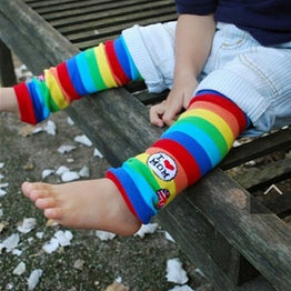 Winter Cotton Baby Leg Warmers Striped Leg Warmer Cute Rainbow Socks