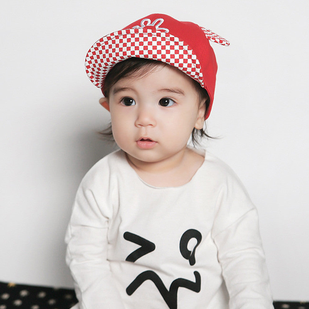 1-3Y 3 Colors Spring Summer Baby Hats Baseball Cap Mickey Hand Embroider
