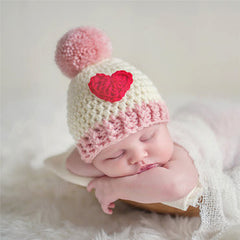 Infant Crochet Hat Custom Made Baby Love Heart Hat