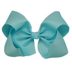 8 inch Big Hair Bow Boutique Solid Grosgrain Ribbon Hairgrips Hair Clips