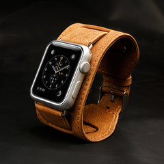 Authentic Leather watchbands Watch Bands Watch Strap Butterfly Buckle for Apple Watch 42 38mm