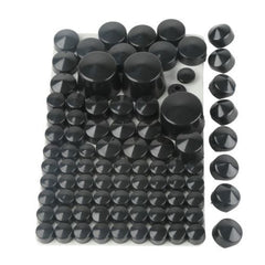87 pcs Black Bolt Toppers Caps Cover for Harley Davidson Softail Twin Cam 1984-2006