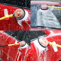 Brush Car Wash With Long Handle Switch Water Flow Foam Car Cleaning