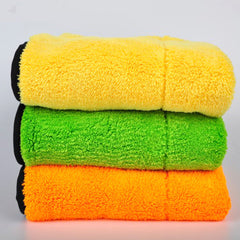 Thick Plush Car Cleaning Towel Cloth for Super Wax Polishing & Detailing