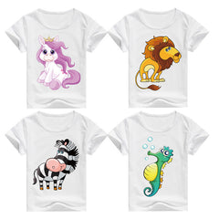 Cartoon Print Multiple Design Cotton T-shirts