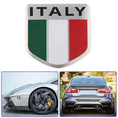 3D Aluminum Italy Map National Flag Car Sticker Car Styling