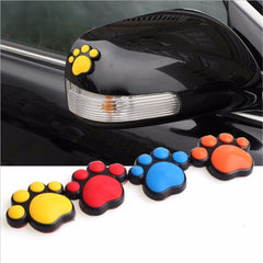 Styling Car Sticker Bear Paw Dog Animal Footprint Emblem Auto Car sticker