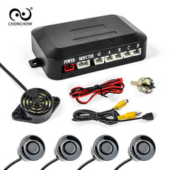 Car Auto Parktronic Parking Sensor With 4 Sensors buzzer Reverse Backup