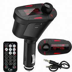 Car Auto Kit Socket Red LCD FM Transmitter Music Audio Stereo With USB