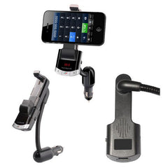 Multi Bluetooth Car Kit Phone Holder Handfree Calling FM Transmitter