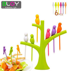 Birds Shape Creative Fruit Fork Dinnerware Fruit Fork 6 Pcs/set