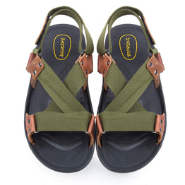 Men Casual Flats Leather Sandals