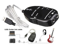 Audio Guitar Effects Pedal to USB Interface Link Cable PC/MAC Recording