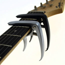 Acoustic and Electric Guitar Capo Silver and Black