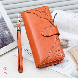 Long Slim Wallets Women Luxury Brand Genuine Leather Wallet For Women