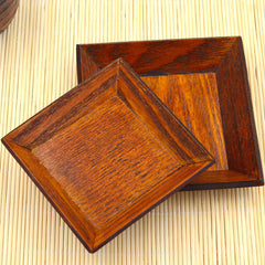 Natural Wood Brown Small Serving Dish for Sushi / Cake