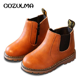 COZULMA Handmade Martin Leather Boots for Spring / Autumn