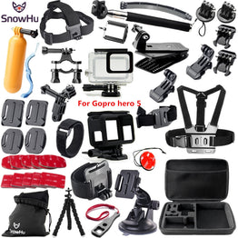 Gopro accessories set Gopro hero 5 waterproof protective case chest mount Monopod