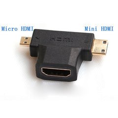 Adapter Converter Connector 3 In 1 Female HDMI To Mini HDMI