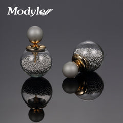 Design Gold Plated Thick Glass Beads Fashion jewelry