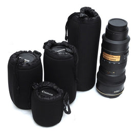 Neoprene Black  Soft Protector DSLR Camera 18-55 70-200 100-300mm
