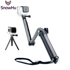 Collapsible 3 Way Monopod Mount Camera Grip Extension Arm Tripod Stand for Gopro Hero 4 2 3 3+ 2  SJ4000 GP238