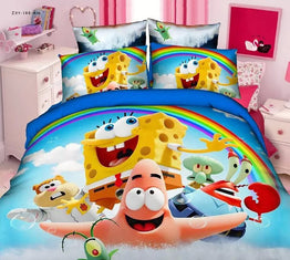 Spongebob Cartoon bedding sets for boy's bedroom