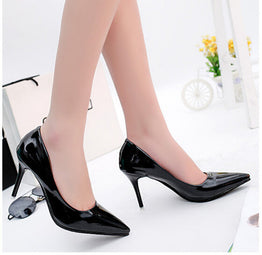 Spring fashion heels leather stilettos for Women