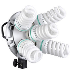 5 in1 Bulb Head Multi-Holder Tricolor Photography Lighting