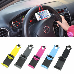 Car Steering Wheel Clip Mount Holder For Smartphones Universal