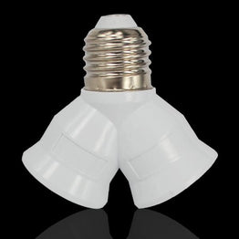 Light Bulb Holder E27 to Dual Double 2X E27 Socket Base