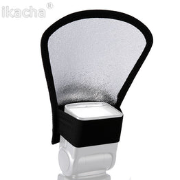 Universal Flash Diffuser Silver/White Reflector for DSLR 1pcs