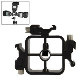 3 Triple Head Hot Shoe Mount Adapter Flash Holder Bracket Light Stand for Canon