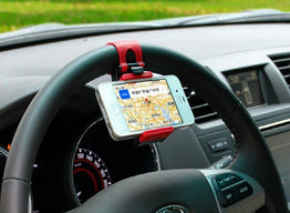 Universal Car-Styling Phone Car Holder  Plastic Steering Wheel Stand