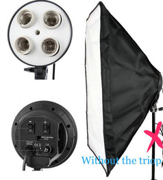 Portable Photo Studio Lighting Softbox 40*60cm Light head with 4 in 1 E27 Lamp Holder