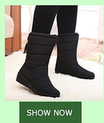 Winter Non-slip Fur Plush Leisure Mid-calf Snow Boots