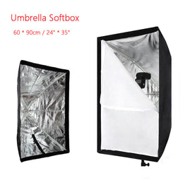 "Portable Softbox 60 * 90cm / 24"" * 35"" Umbrella Softbox Brolly Reflector"