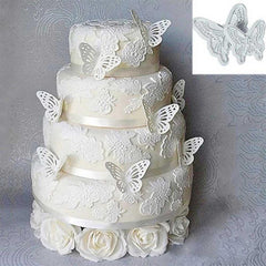 2pcs Butterfly Shape Plastic Cake Decorating Sugar craft